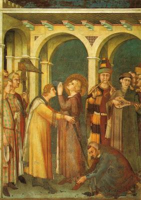 Simone Martini Investitura cavaliere Basilica Inferiore Assisi