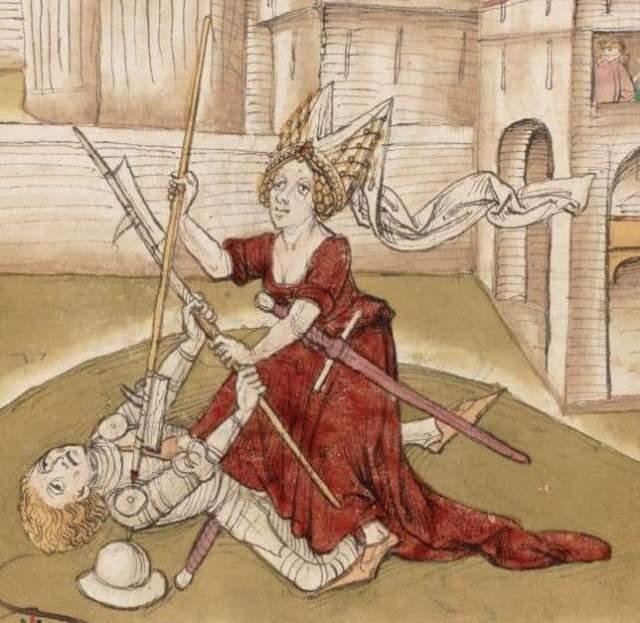 Donna in duello da un testo tedesco